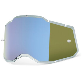 100% Injected Anti-Fog Replacement Lenses Gen2, blue/mirror